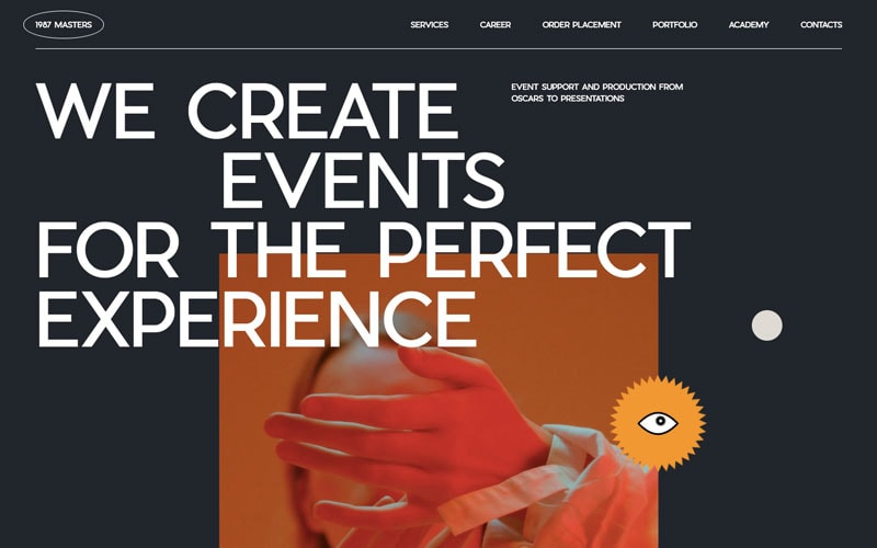 Examples of responsive websites that leverage their space