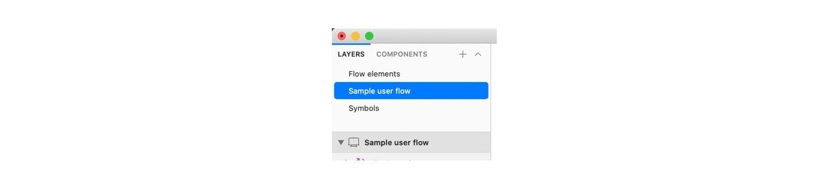 Create a new page for user flows