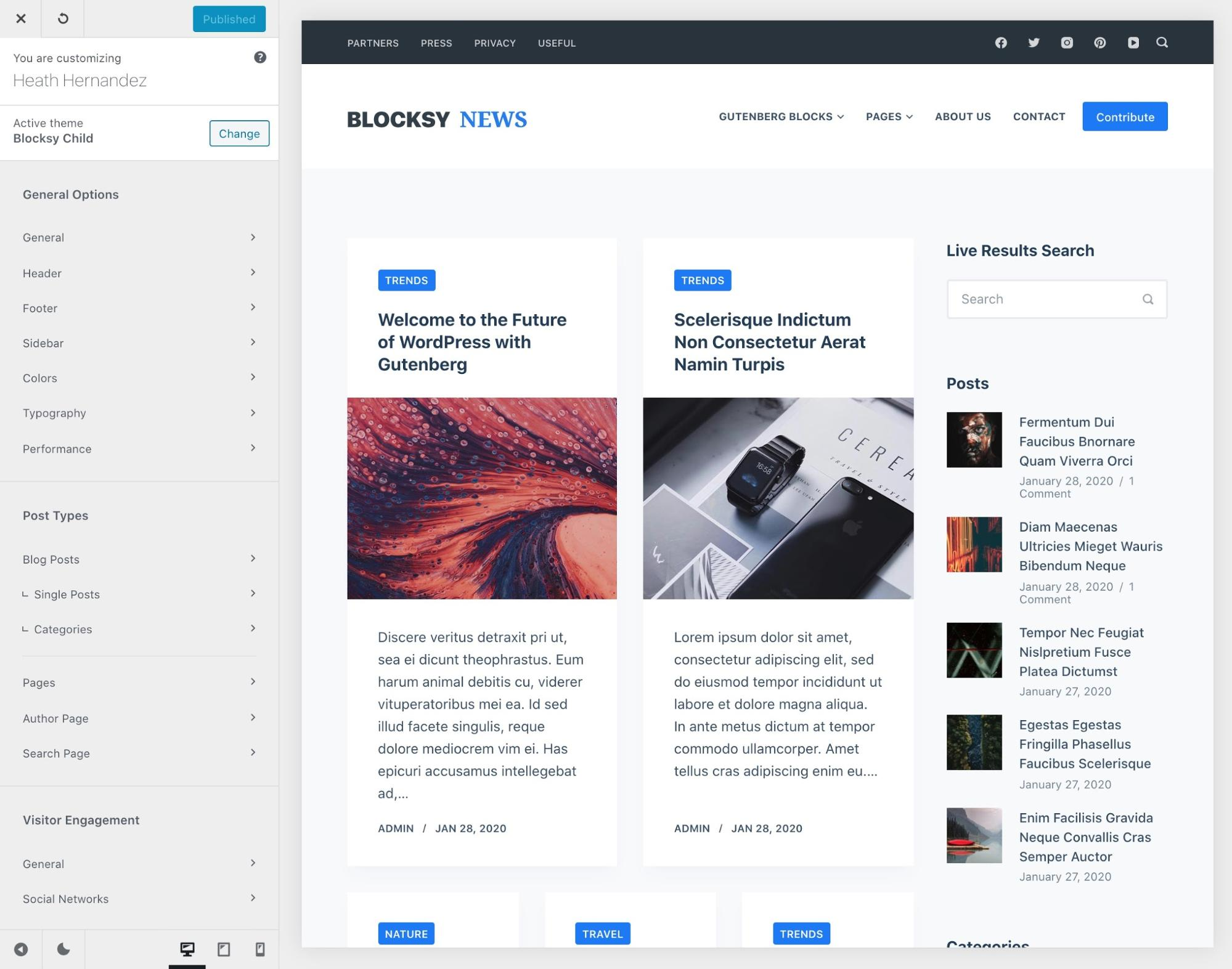 Blocksy WordPress Gutenberg