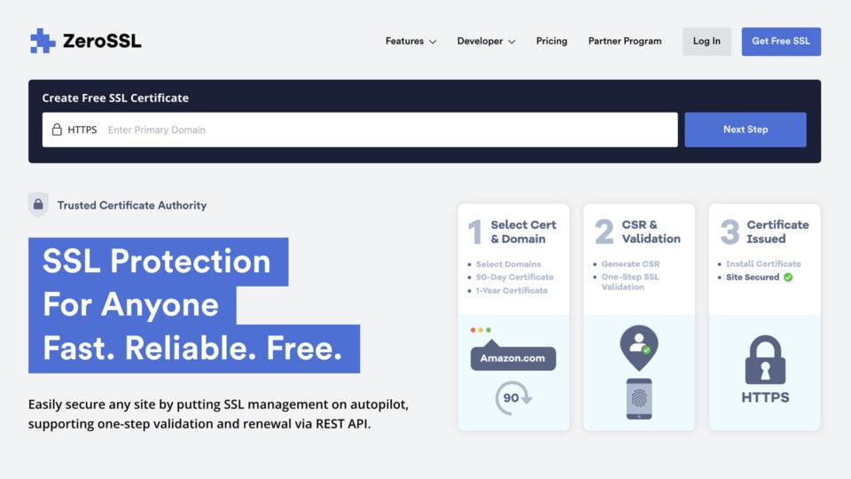ZeroSSL - Fast and Reliable SSL Protection for All