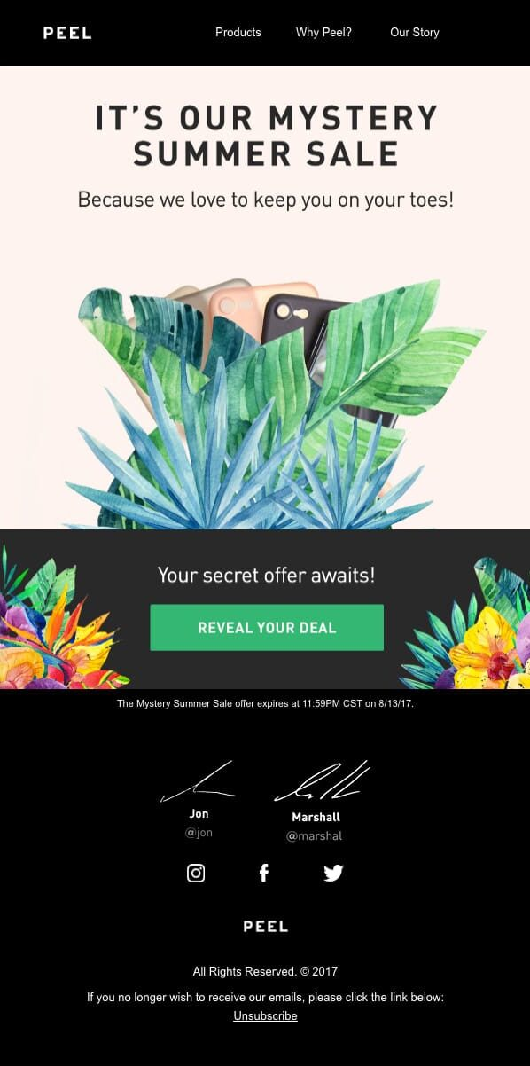 Summer Email Newsletter Calendar