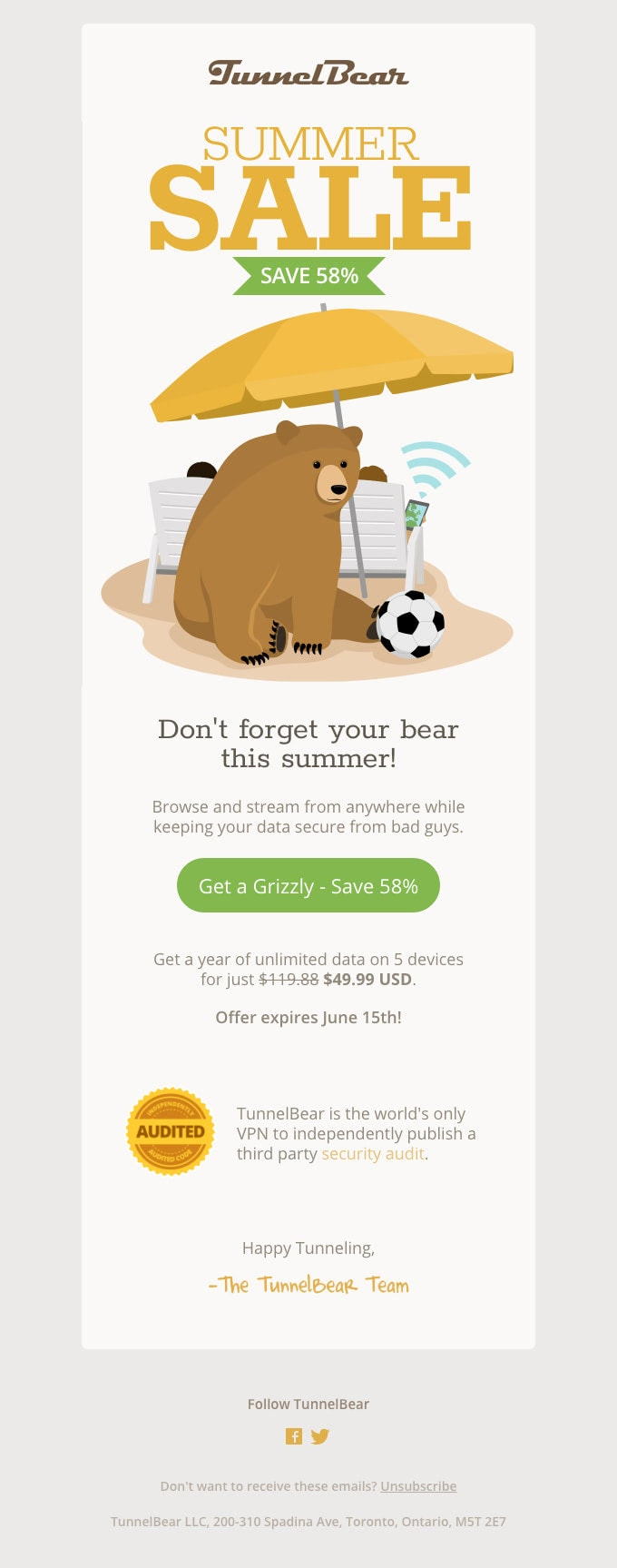Email Newsletter Summer Sale