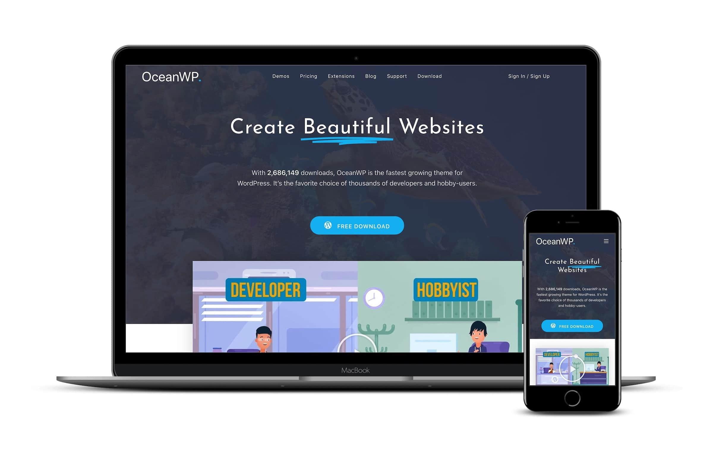 OceanWP Gutenberg