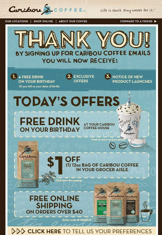 Email Newsletter from Caribou