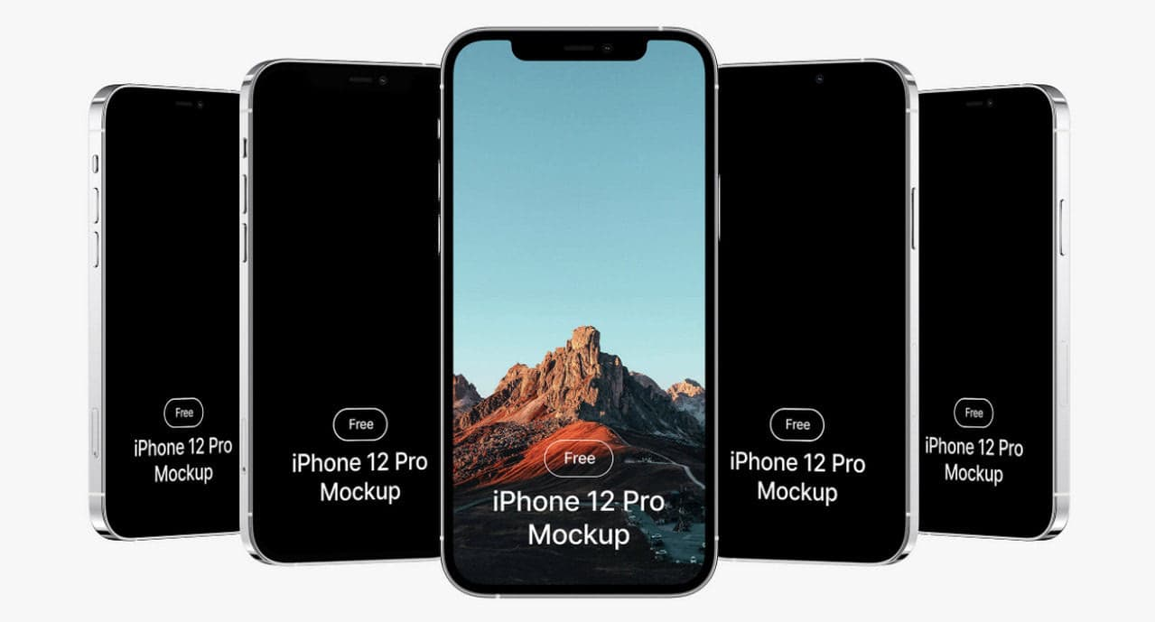 Free iPhone 12 Mockups