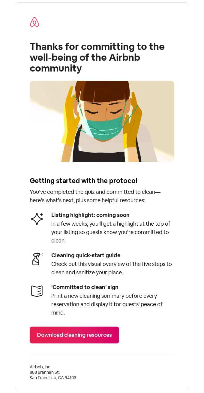 Email Newsletter from Airbnb