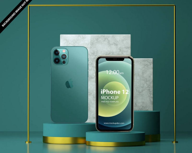 Free iPhone 12 Mockup PSD Template