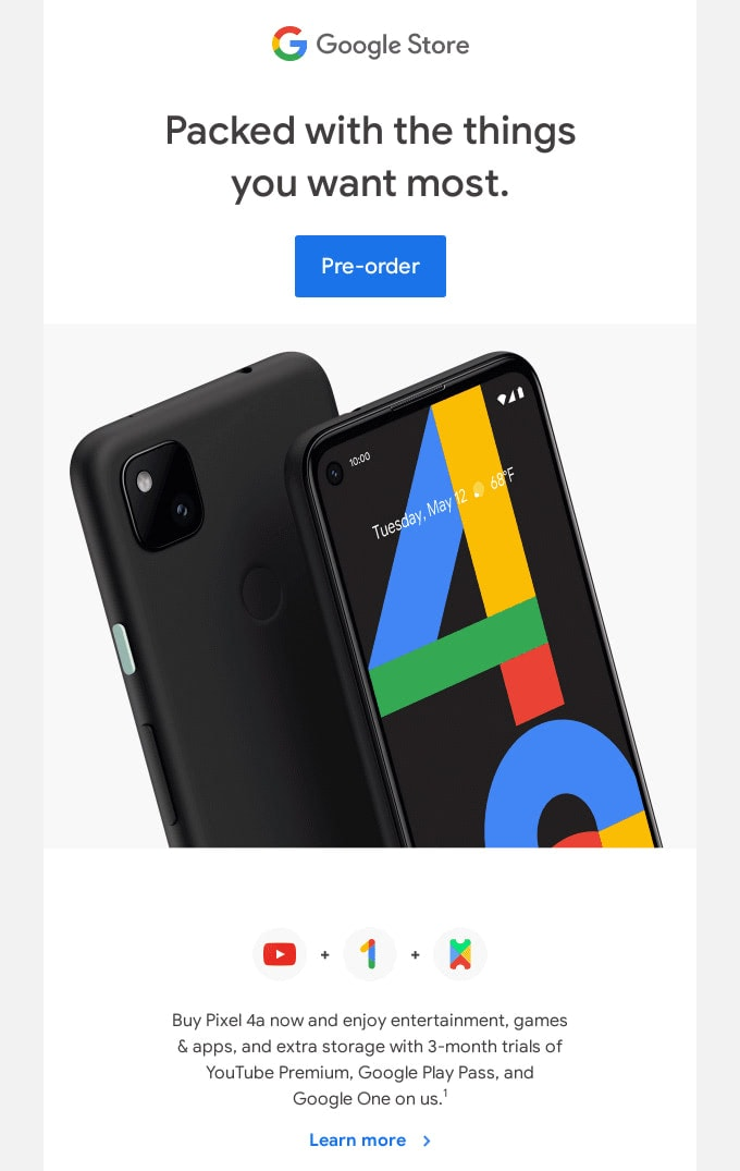 Email Newsletter from Google