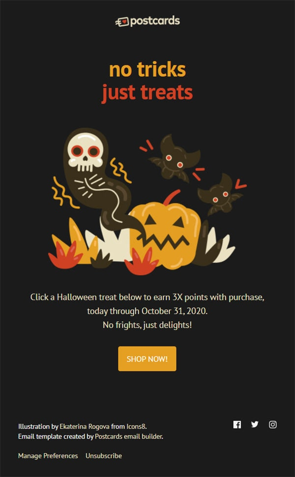 Free Halloween Newsletter Design Templates for Email Marketing
