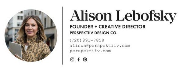 Modern Email Signature Design for Entrepreneur