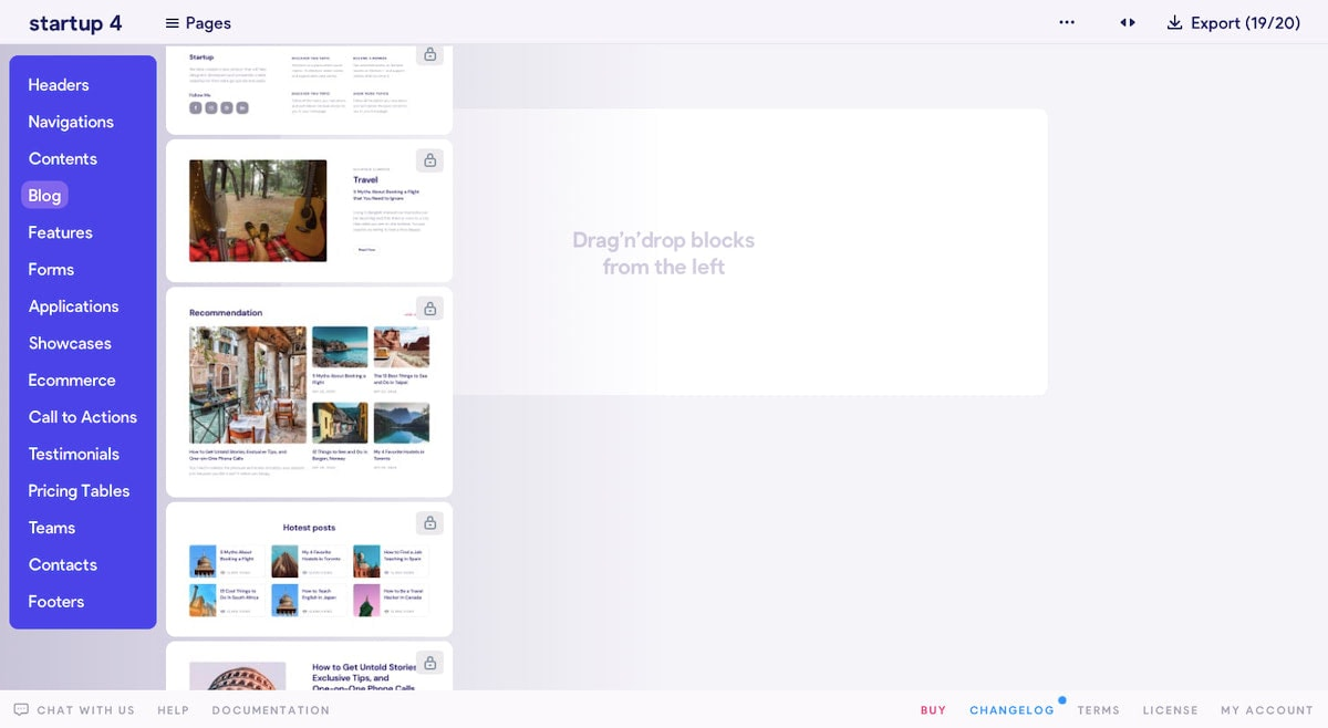 Startup blog templates