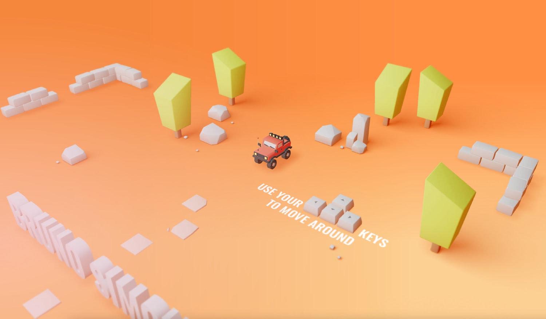 Trendy 3D website
