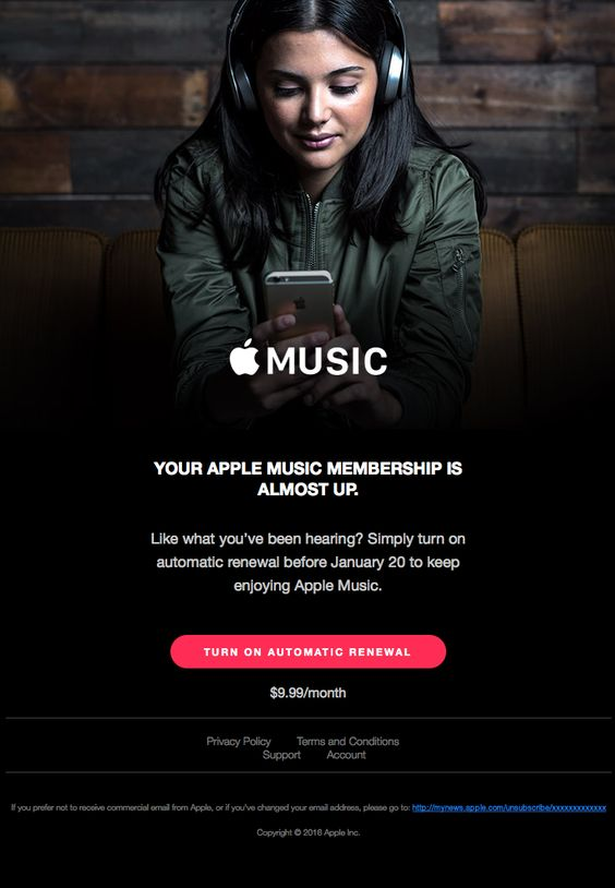 Your Apple Music membership is almost up