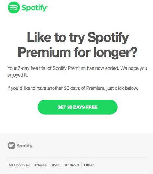 Membership Renewal by Spotify