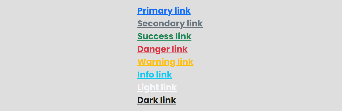 Colored Links
