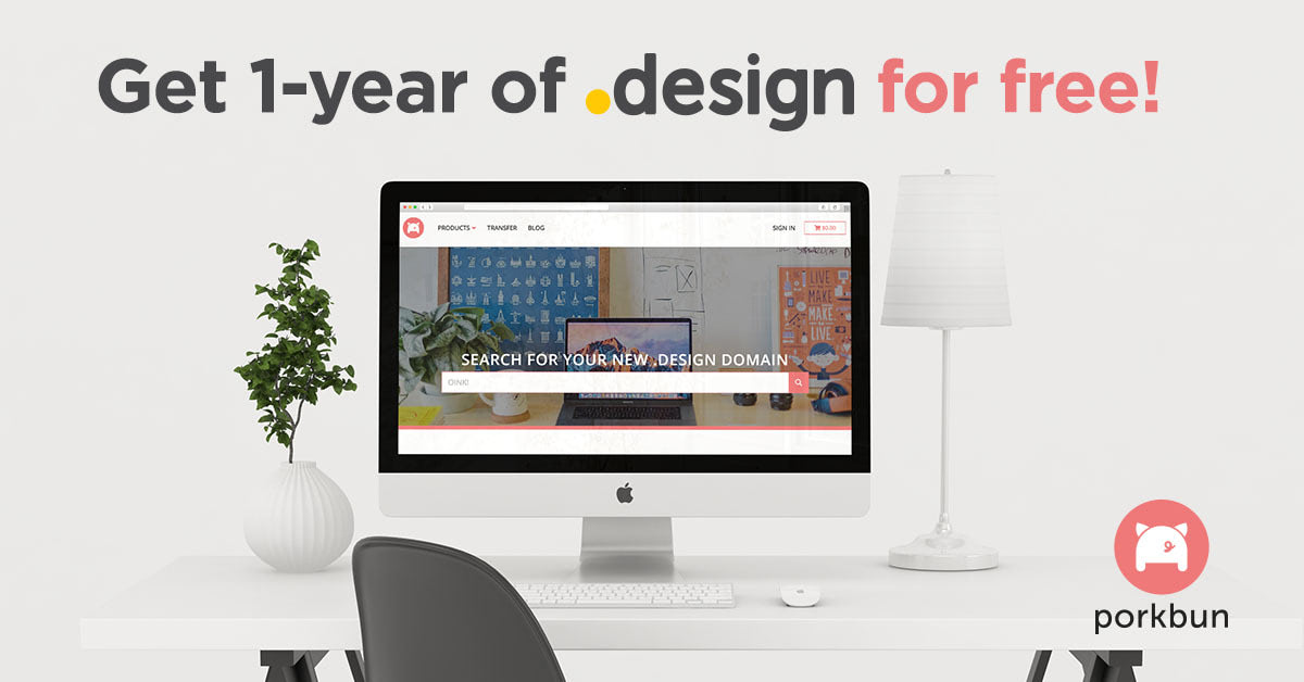 Get Your .design Domain for Free!