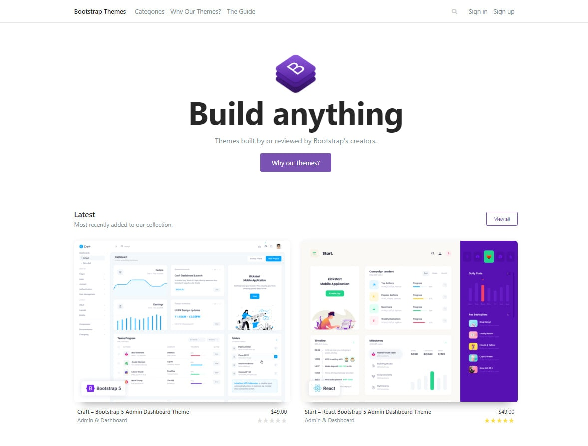 Bootstrap 5 Themes by Offical Bootstrap Marketplace