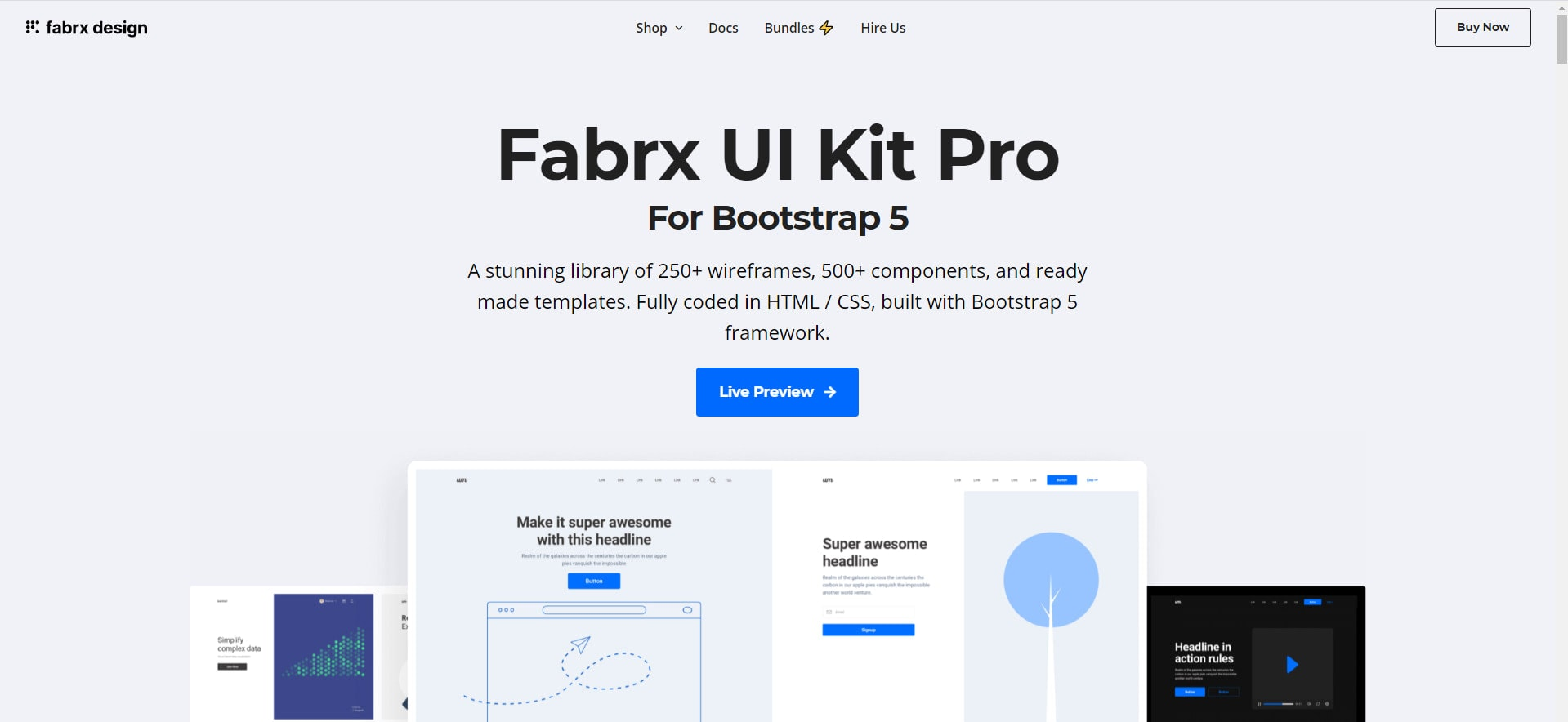 Excellent Bootstrap 5 UI Kit Examples
