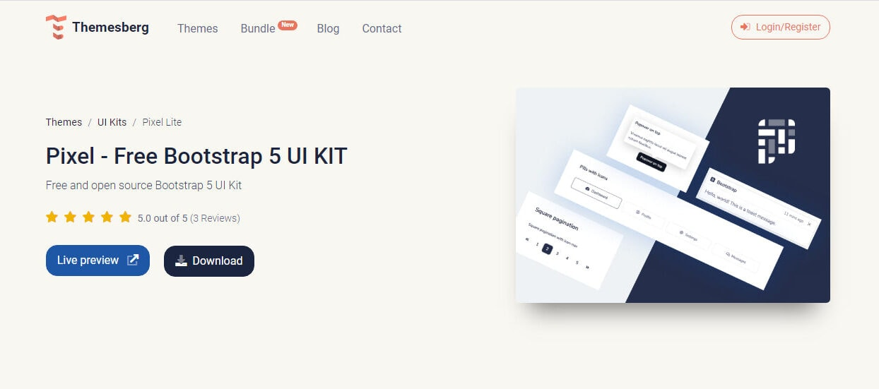 Use Bootstrap 5 UI Kits and Themes