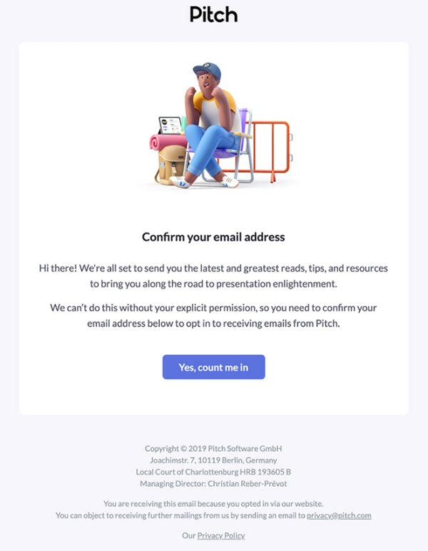 Subscription Confirmation Emails