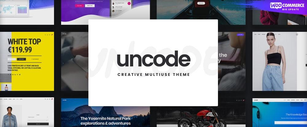 Uncode – Creative Multiuse & WooCommerce WordPress Theme