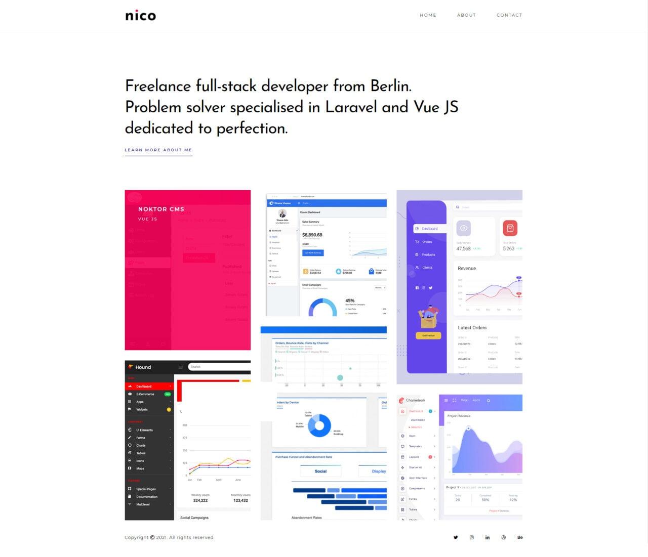 Static website example