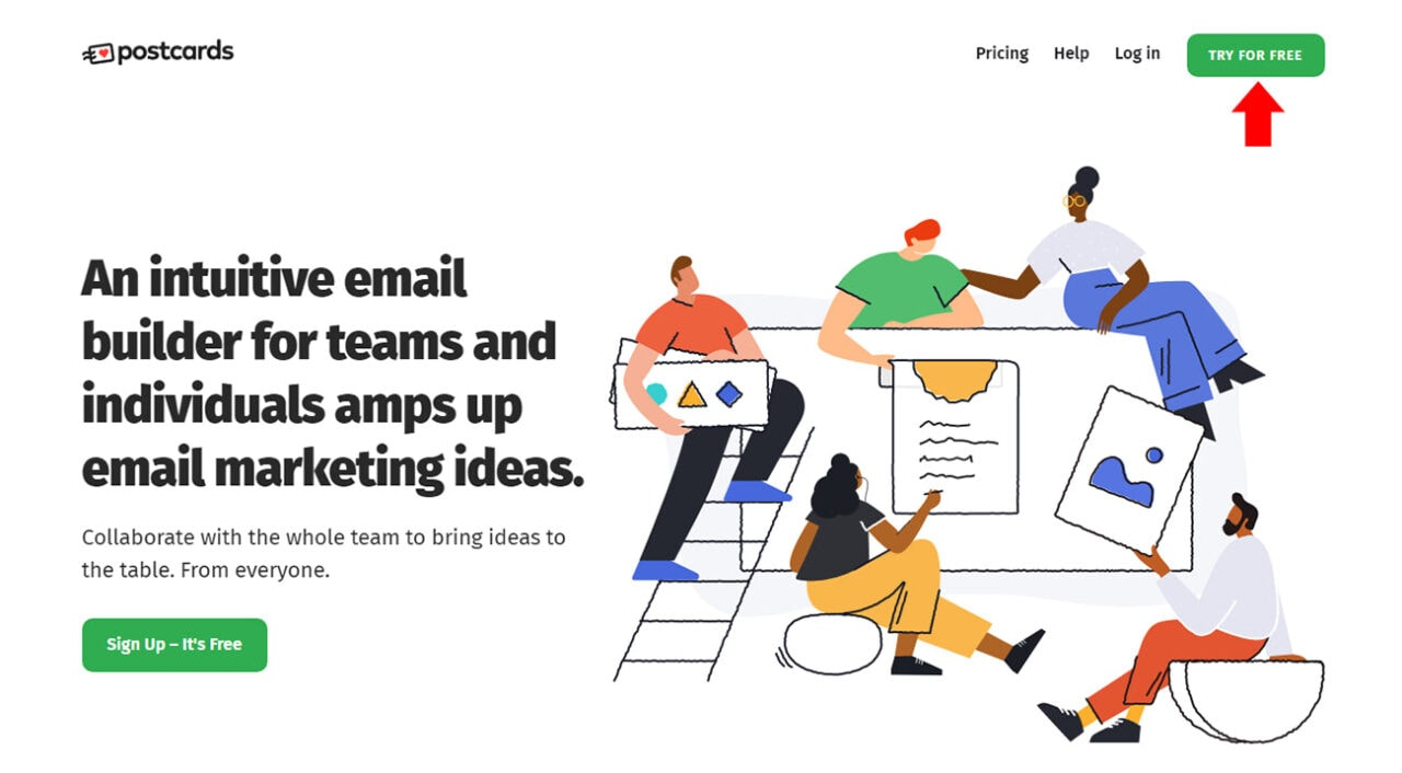 Creating an Email Template with Postcards