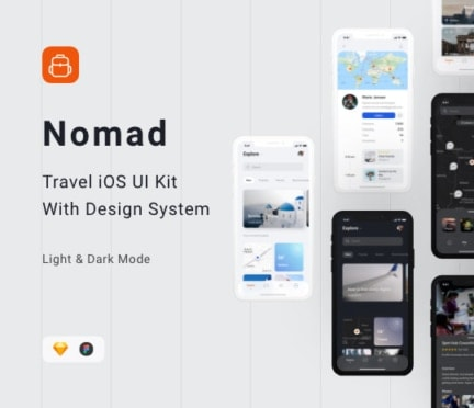 Nomad iOS UI Kit by buy .design