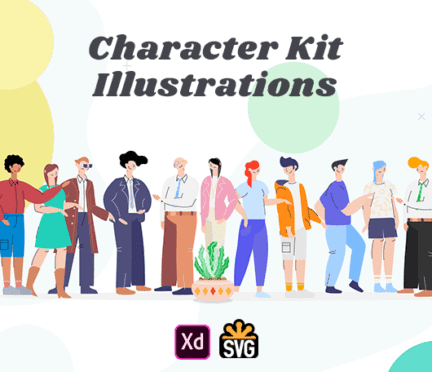 Character Kit Illustrations by Webnus Studio